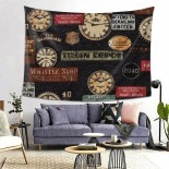 Time Hanging Decoration Tapestries sofa covers,80*60inch,Polyester.