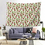 Rose And Hubble Strawberries Hanging Decoration Tapestries dormitory decorations,80*60inch,Polyester.