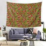 Flower Green Hanging Decoration Tapestries bedspreads,80*60inch,Polyester.