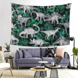 Dinosaurs Jungle Hanging Decoration Tapestries sofa covers,80*60inch,Polyester.