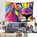 Colorful Lion Hanging Decoration Tapestries bedspreads,80*60inch,Polyester.